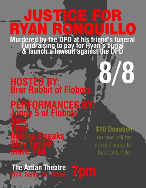 8/8 Ryan Ronquillo benefit